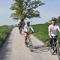 Biking with B.H.M.S. Students